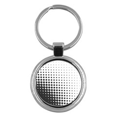 Comic Dots Polka Black White Key Chains (round)  by Mariart