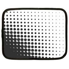 Comic Dots Polka Black White Netbook Case (xxl)  by Mariart