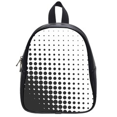 Comic Dots Polka Black White School Bags (small)  by Mariart