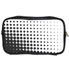 Comic Dots Polka Black White Toiletries Bags 2 Side by Mariart