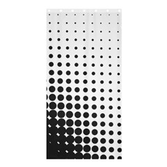 Comic Dots Polka Black White Shower Curtain 36  X 72  (stall)  by Mariart