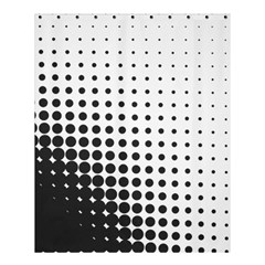 Comic Dots Polka Black White Shower Curtain 60  X 72  (medium)  by Mariart