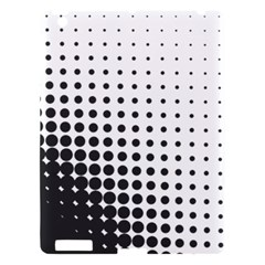 Comic Dots Polka Black White Apple Ipad 3/4 Hardshell Case by Mariart