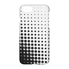 Comic Dots Polka Black White Apple Iphone 7 Hardshell Case by Mariart
