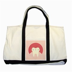 Sad Tooth Pink Two Tone Tote Bag by Mariart