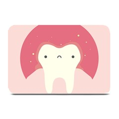 Sad Tooth Pink Plate Mats by Mariart