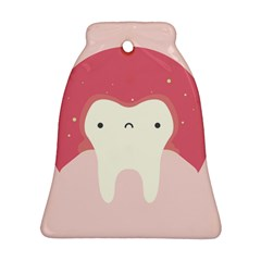 Sad Tooth Pink Ornament (bell) by Mariart