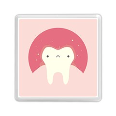 Sad Tooth Pink Memory Card Reader (square)  by Mariart