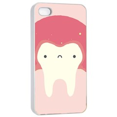 Sad Tooth Pink Apple Iphone 4/4s Seamless Case (white) by Mariart