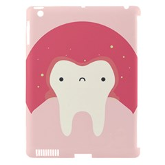 Sad Tooth Pink Apple Ipad 3/4 Hardshell Case (compatible With Smart Cover) by Mariart