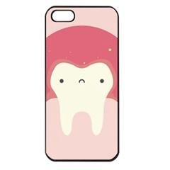 Sad Tooth Pink Apple Iphone 5 Seamless Case (black) by Mariart