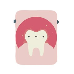 Sad Tooth Pink Apple Ipad 2/3/4 Protective Soft Cases by Mariart