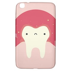 Sad Tooth Pink Samsung Galaxy Tab 3 (8 ) T3100 Hardshell Case  by Mariart