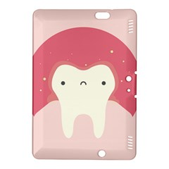 Sad Tooth Pink Kindle Fire Hdx 8 9  Hardshell Case by Mariart