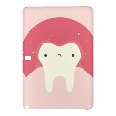 Sad Tooth Pink Samsung Galaxy Tab Pro 12 2 Hardshell Case by Mariart