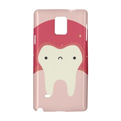 Sad Tooth Pink Samsung Galaxy Note 4 Hardshell Case by Mariart