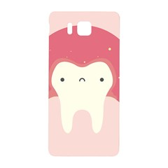 Sad Tooth Pink Samsung Galaxy Alpha Hardshell Back Case by Mariart