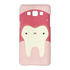 Sad Tooth Pink Samsung Galaxy A5 Hardshell Case  by Mariart