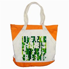 Generative Art Experiment Rectangular Circular Shapes Polka Green Vertical Accent Tote Bag by Mariart