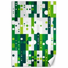 Generative Art Experiment Rectangular Circular Shapes Polka Green Vertical Canvas 20  x 30