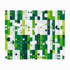 Generative Art Experiment Rectangular Circular Shapes Polka Green Vertical Small Glasses Cloth (2 Side) by Mariart