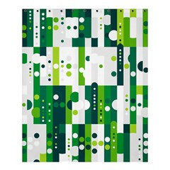 Generative Art Experiment Rectangular Circular Shapes Polka Green Vertical Shower Curtain 60  X 72  (medium)  by Mariart
