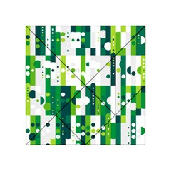 Generative Art Experiment Rectangular Circular Shapes Polka Green Vertical Acrylic Tangram Puzzle (4  X 4 ) by Mariart