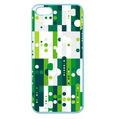 Generative Art Experiment Rectangular Circular Shapes Polka Green Vertical Apple Seamless Iphone 5 Case (color) by Mariart