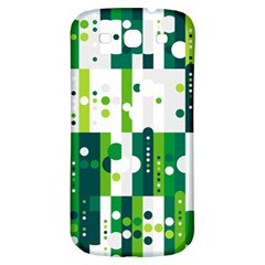 Generative Art Experiment Rectangular Circular Shapes Polka Green Vertical Samsung Galaxy S3 S Iii Classic Hardshell Back Case by Mariart