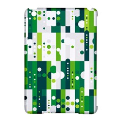 Generative Art Experiment Rectangular Circular Shapes Polka Green Vertical Apple Ipad Mini Hardshell Case (compatible With Smart Cover) by Mariart
