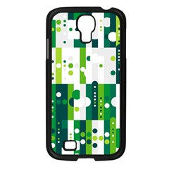 Generative Art Experiment Rectangular Circular Shapes Polka Green Vertical Samsung Galaxy S4 I9500/ I9505 Case (black) by Mariart