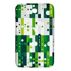 Generative Art Experiment Rectangular Circular Shapes Polka Green Vertical Samsung Galaxy Tab 3 (7 ) P3200 Hardshell Case