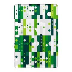 Generative Art Experiment Rectangular Circular Shapes Polka Green Vertical Samsung Galaxy Tab Pro 12 2 Hardshell Case by Mariart