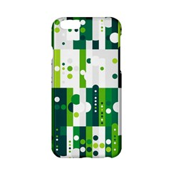 Generative Art Experiment Rectangular Circular Shapes Polka Green Vertical Apple Iphone 6/6s Hardshell Case by Mariart