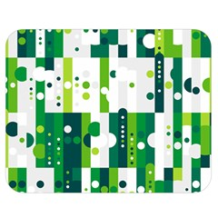 Generative Art Experiment Rectangular Circular Shapes Polka Green Vertical Double Sided Flano Blanket (medium)  by Mariart