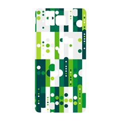 Generative Art Experiment Rectangular Circular Shapes Polka Green Vertical Samsung Galaxy Alpha Hardshell Back Case by Mariart