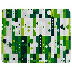Generative Art Experiment Rectangular Circular Shapes Polka Green Vertical Jigsaw Puzzle Photo Stand (rectangular) by Mariart