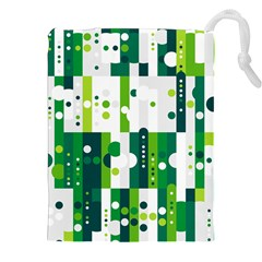 Generative Art Experiment Rectangular Circular Shapes Polka Green Vertical Drawstring Pouches (xxl) by Mariart