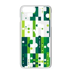 Generative Art Experiment Rectangular Circular Shapes Polka Green Vertical Apple Iphone 7 Plus White Seamless Case by Mariart