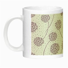 Purple Tulip Flower Floral Polkadot Polka Spot Night Luminous Mugs by Mariart