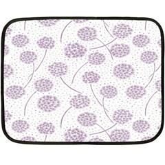 Purple Tulip Flower Floral Polkadot Polka Spot Double Sided Fleece Blanket (mini)