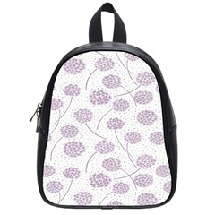Purple Tulip Flower Floral Polkadot Polka Spot School Bags (small)  by Mariart