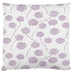 Purple Tulip Flower Floral Polkadot Polka Spot Large Cushion Case (two Sides) by Mariart