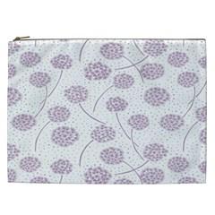 Purple Tulip Flower Floral Polkadot Polka Spot Cosmetic Bag (xxl)  by Mariart