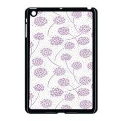 Purple Tulip Flower Floral Polkadot Polka Spot Apple Ipad Mini Case (black) by Mariart