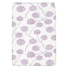 Purple Tulip Flower Floral Polkadot Polka Spot Flap Covers (l)