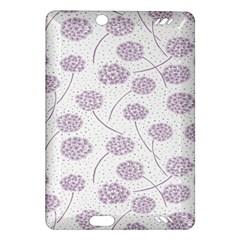 Purple Tulip Flower Floral Polkadot Polka Spot Amazon Kindle Fire Hd (2013) Hardshell Case by Mariart