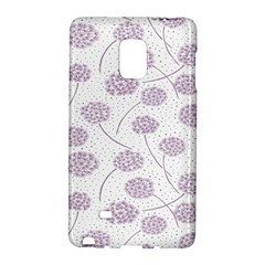 Purple Tulip Flower Floral Polkadot Polka Spot Galaxy Note Edge by Mariart