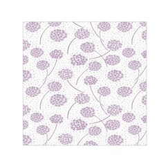 Purple Tulip Flower Floral Polkadot Polka Spot Small Satin Scarf (square) by Mariart