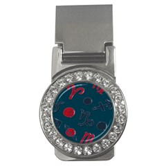 Zodiac Signs Planets Blue Red Space Money Clips (cz)  by Mariart